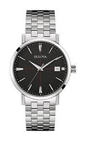bulova men s designer watch stainless steel bracelet black dial bulova men s designer watch stainless steel bracelet black dial classic aerojet 96b244