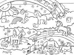 Small Picture Rainbow and Unicorn Coloring Pages Get Coloring Pages