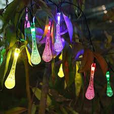 solar outdoor string lights innoo tech 20 led icicle globe patio light for garden wedding party xmas indoor path prochmulti colo c9 string lights