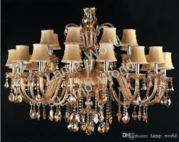 huge chandelier for living room fabric shade crystal contemporary lighting with lampshade multi shades replacement