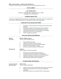 Spa Receptionist Resume Amazing Medical Receptionist Resume Template Office Administration Medical