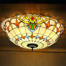stained glass ceiling light fixture style stained glass ceiling lights bedroom decorative lights cm h small