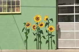 sunflower mural mural wall art
