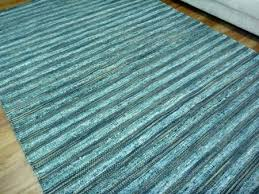 flat weave sari silk jute hemp rugs silver stripes