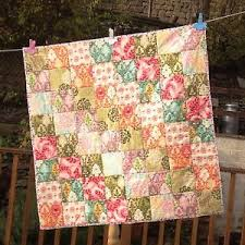 Handmade Patchwork Baby Quilt-Cotton Fabric/Wadding Moda Hunky ... & Image is loading Handmade-Patchwork-Baby-Quilt-Cotton-Fabric-Wadding-Moda- Adamdwight.com