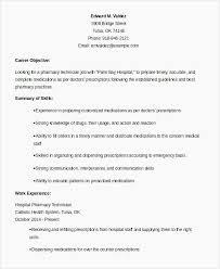 15 Pharmacy Technician Resume Objectives Sample Paystub