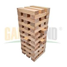 Wooden Brick Game Wooden Outdoor Games Large Wooden Jenga Wood Game Giant Jenga 24