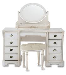 Small Bedroom Stool White High Gloss Finish Wooden Dressing Table With Single Drawer