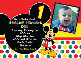 Make Your Own Mickey Mouse Invitations Mickey Mouse 1st Birthday Invitations Granizmondal Com