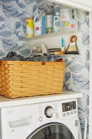 Laundry Room_Emily Henderson_Big Wave Wallpaper_Blue_LG_Detail_2