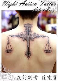 Tetování Váhy Posedlá Psaním