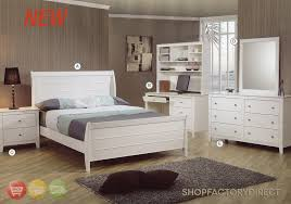 Selena Twin White Wood Kids 6 Piece Bedroom Furniture Set with Desk ...
