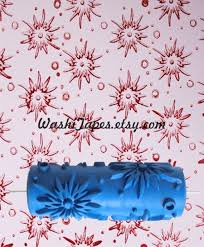pattern paint roller wallpaper emboss