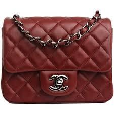 Chanel Dark Red Quilted Lambskin Classic Mini 2.55 Flap Bag ... & Chanel Dark Red Quilted Lambskin Classic Mini 2.55 Flap Bag Never Carried Adamdwight.com