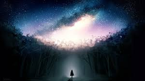 Stars, Dark Forest, Fantasy Girl, Alone ...