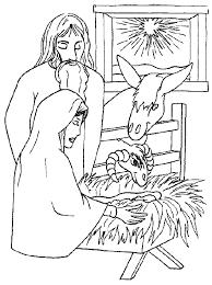 Kerstmis Kleurplaat Kerstkribbe