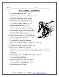 opinion writing prompts example of persuasive essay topics