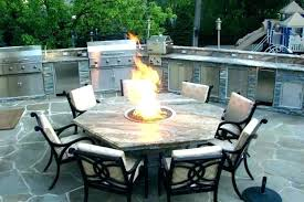 large round gas fire pit table with in middle size of patio outdoor natural