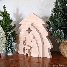 diy wooden nativity puzzle decor using this free scroll saw pattern reality daydream