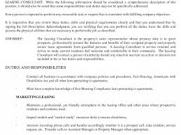 Resume For Leasing Agent With No Experience Strikingly Design Leasing Agent Resume 24 Amusing Apartment 20