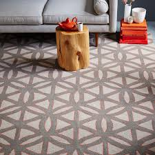 circle lattice wool rug feather gray west elm