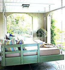 outdoor swing bed hanging porch round twins beds diy plans h round swing bed