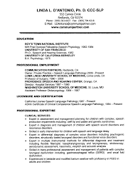 Sample Resume For Speech Language Pathologist Cover letter for speech language pathologist assistant Resume 1