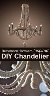 restoration hardware inspired chandelier makeover