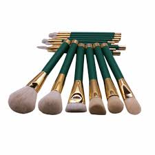 vander 15pcs green makeup brushes set make up brush tools cosmetic professional foundation brush kits blending pencil kabuki in eye shadow applicator from