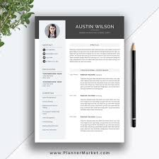 Eye Catching Resume Templates Microsoft Word This Eye Catching Resume Template Helps You Get Noticed Letter Size A4 For Ms Office Word Instant Download The Austin Resume