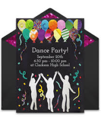 Dance Invitation Ideas Free Music And Dance Online Invitations Punchbowl