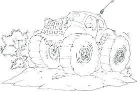 Printable Colouring Pages Of Trucks Coloring Source Kids