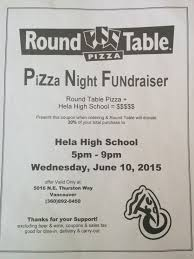 if you eat at round table pizza check out our new flyer which donates 20 of your total purchase to hela high school