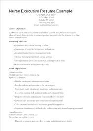 Resume Suggestion Nurse Executive Resume Sample Templates At