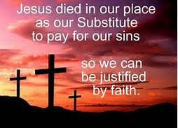 Image result for JESUS DIED IN OUR PLACE