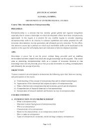 Introduction To Entrepreneurship Pdf Introduction To Entrepreneurship Josephat Nchungo