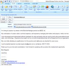 What To Write On Email When Sending Resume Editor Manager Position  Additional Information On Resumes 8 ...