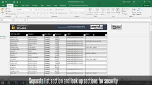 Password Keeper Free Password List Template In Excel Youtube