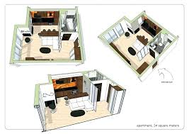 studio apartment layout best tiny floor plans small with elegant black and white interior design tin