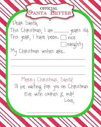 Letter To Santa Template Word Or Stationary Template For Word Joca