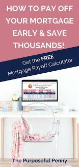 Mortgage Early Payoff Calculator Frugal Living Pinterest Debt