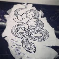 тату змея трансфер или трафарет для переноса рисунка на кожу