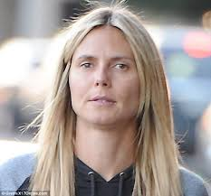 bare faced beauty a make up free heidi klum enjo lunch with her three