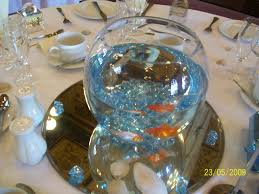 Live Goldfish Centerpiece | ... Events; Event Design and Floral Styling:  Crazy