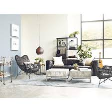 maximus concrete chrome distressed square block coffee table kathy kuo home