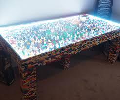 light up lego coffee table display coffee table uk lego millennium falcon