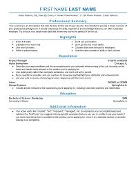 Experienced Resume Format Filename Joele Barb