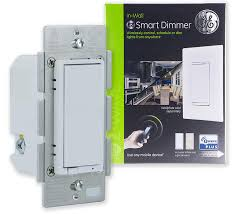 ge enbrighten z wave plus smart dimmer switch full dimming in wall incl white and lt almond paddles repeater range extender zwave hub required