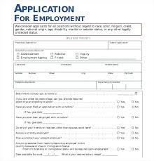 Free Generic Employment Application Form Printable Applications For