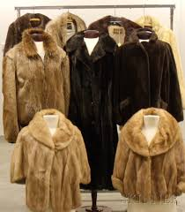group of vintage fur coats jackets